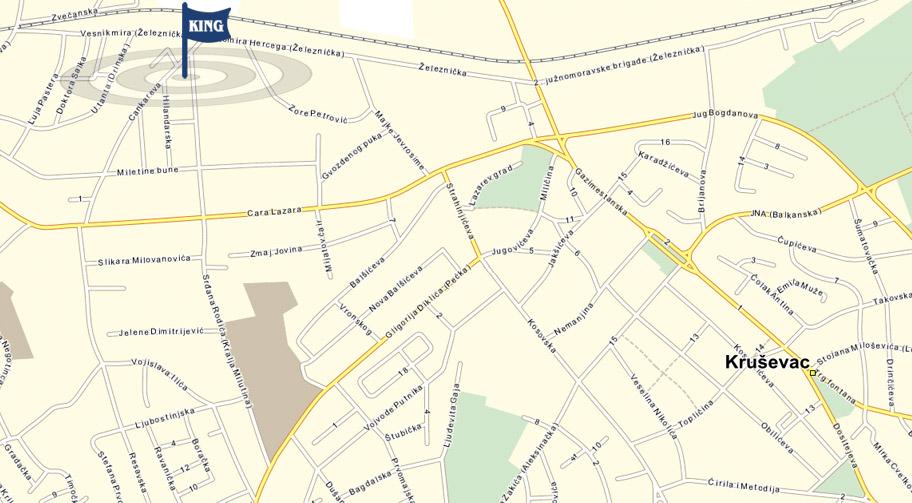 krusevac mapa King Kruševac | Contact krusevac mapa